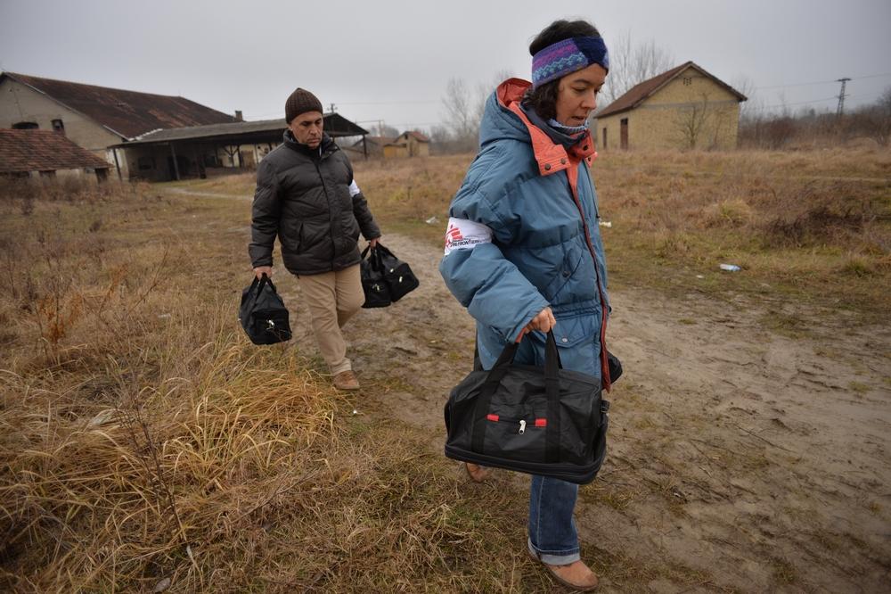 Asylum seeker in Serbia, JAN 2015